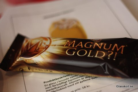 Magnum Gold?! - Glasskoll.se Photo by Glassmannen