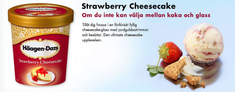 Häagen-azs Strawberry Cheesecake - Glasskoll.se